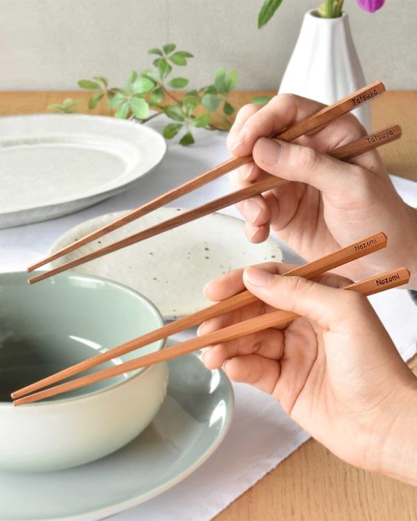 【名入れ込】特別な二人へ贈る「夫婦箸」結婚のお祝い、ご両親ギフト、敬老の日に。
