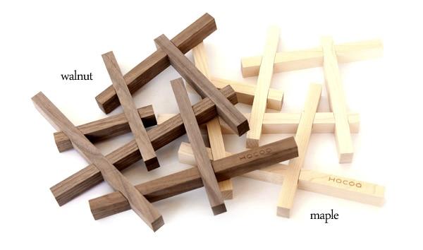 北欧風のおしゃれな木製鍋敷き