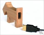 木製のUSBフラッシュメモリ