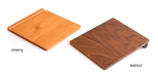 高級木材チェリーとウォールナットの木製マウスパッド