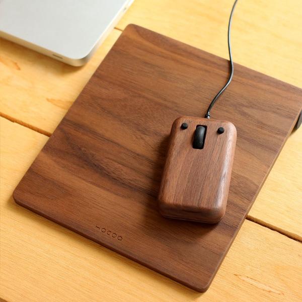 PC周りにこだわる方へ、木製マウスとマウスパッドのギフトセット