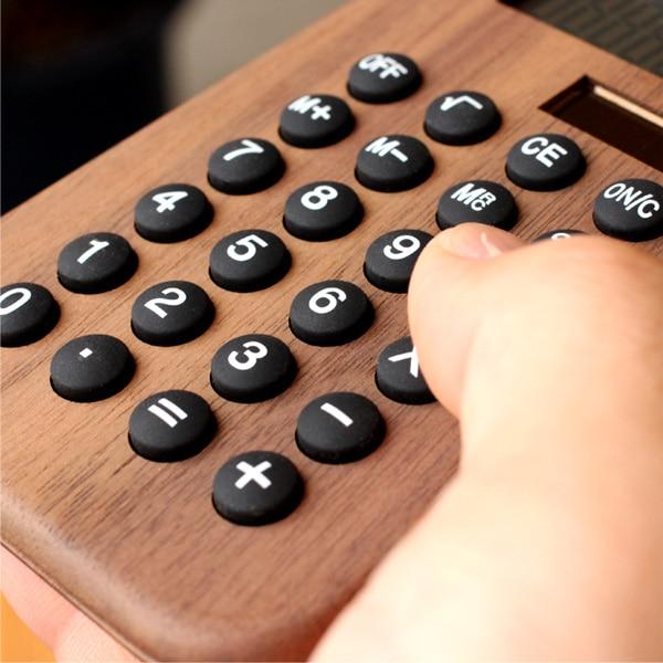 押し心地のよい丸いボタンのおしゃれな電卓