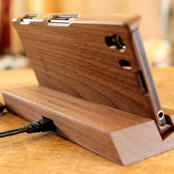 オークのスタンド、木製ケース使用時でも使えます