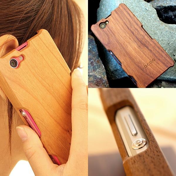手作り感を活かした無垢の木製スマートフォンケース