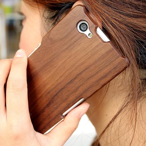 木製スマートフォン Xperia Z1f用 ウォールナット