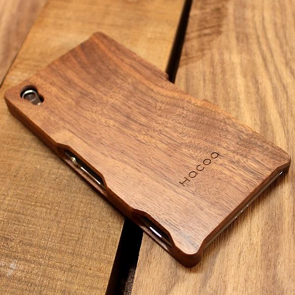 木製スマートフォン Xperia Z2用 ウォールナット