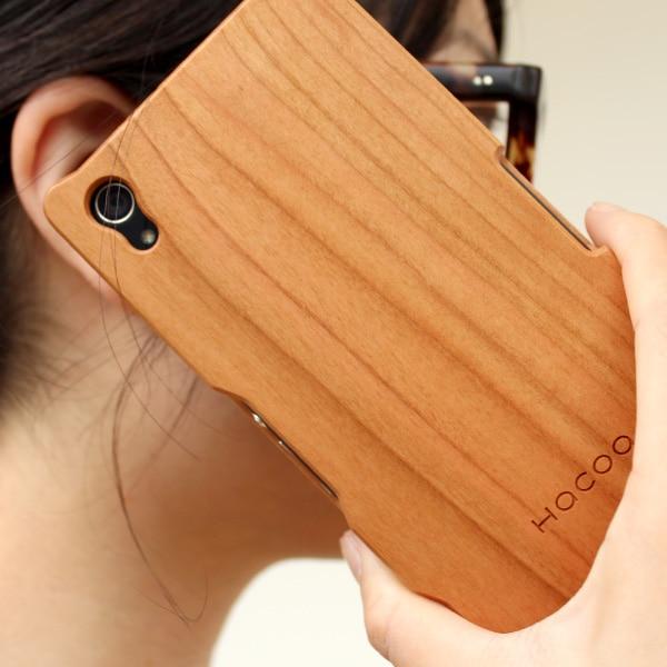 木製スマートフォン Xperia Z2用 チェリー