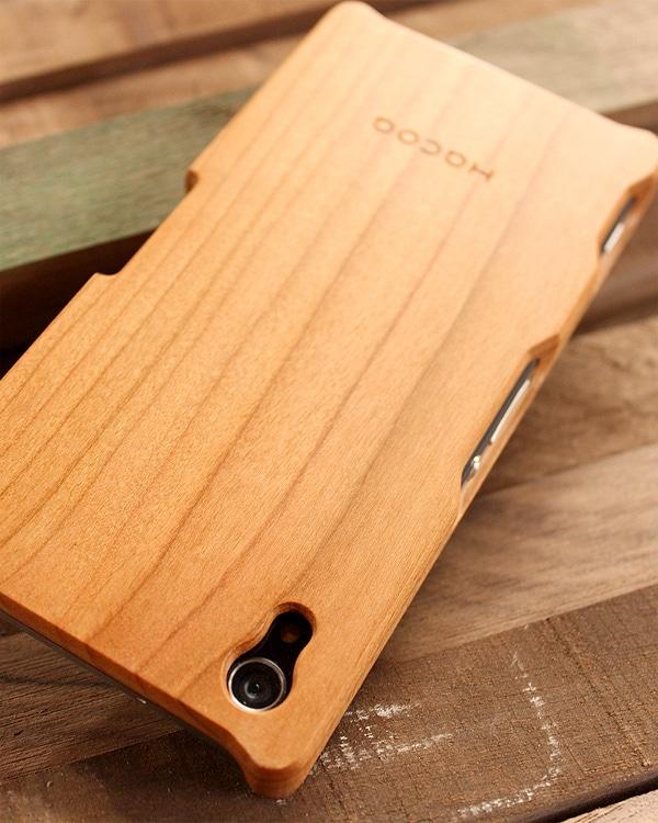 手作り感を活かした無垢の木製スマートフォンケース Xperia Z2