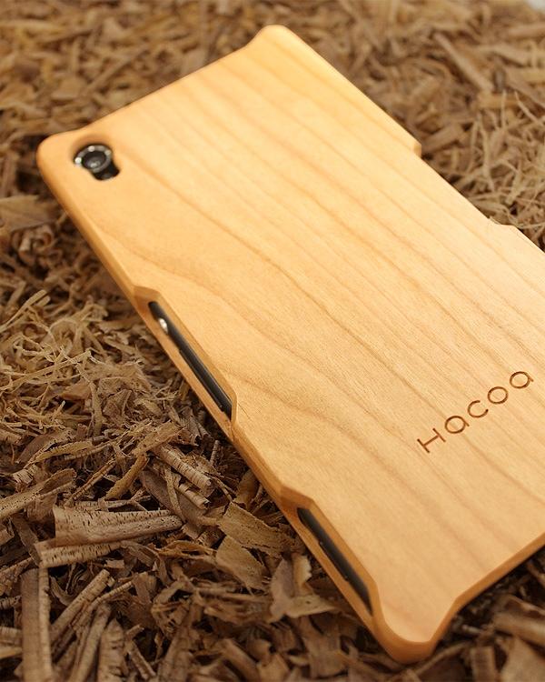 手作り感を活かした無垢の木製スマートフォンケース Xperia Z3