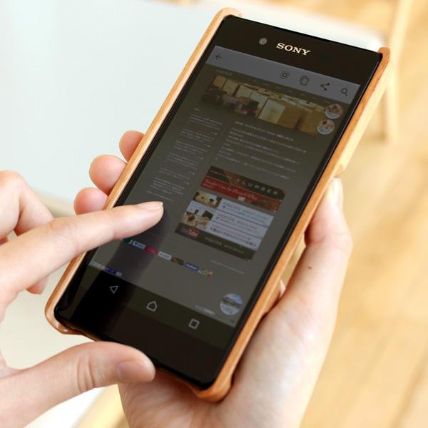 木製スマートフォン Xperia Z4用 チェリー