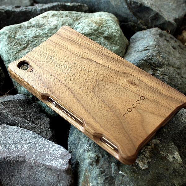 木製スマートフォンケース Xperia Z4 ウォールナット