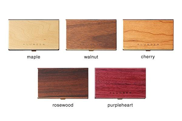 天然木とステンレスを融合した木製名刺ケース。+LUMBERブランド
