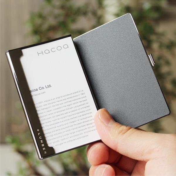 フタが大きく開いて使いやすい、+LUMBERブランドの木製カードケース