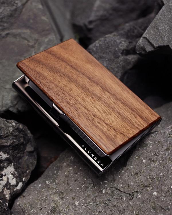 【名入れ可能】木目の美しさをシンプルに表現した木製カードケース・名刺入れ