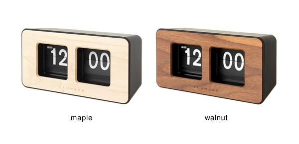 メープルとウォールナットの2樹種を使用した木製フリップ時計・パタパタ時計