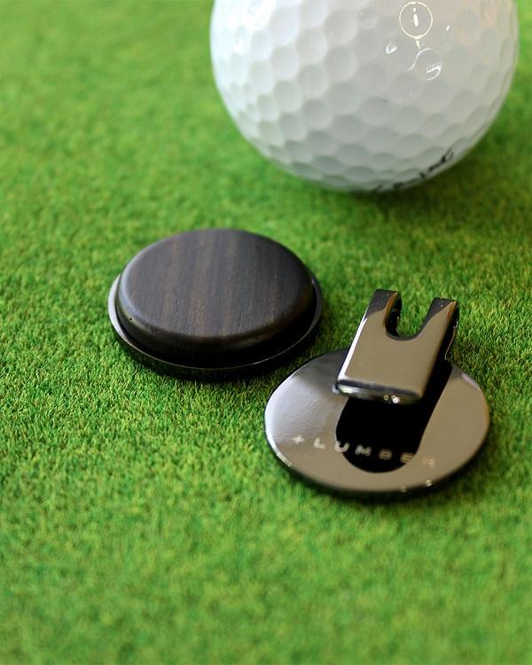 重厚感あふれる木製ゴルフマーカー・ボールマーカー