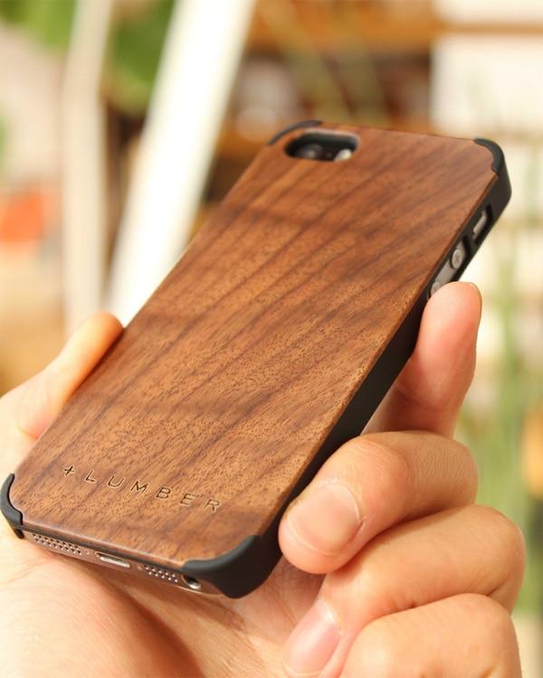 丈夫なハードケースと天然木を融合したiPhone SE/5s/5専用木製ケース