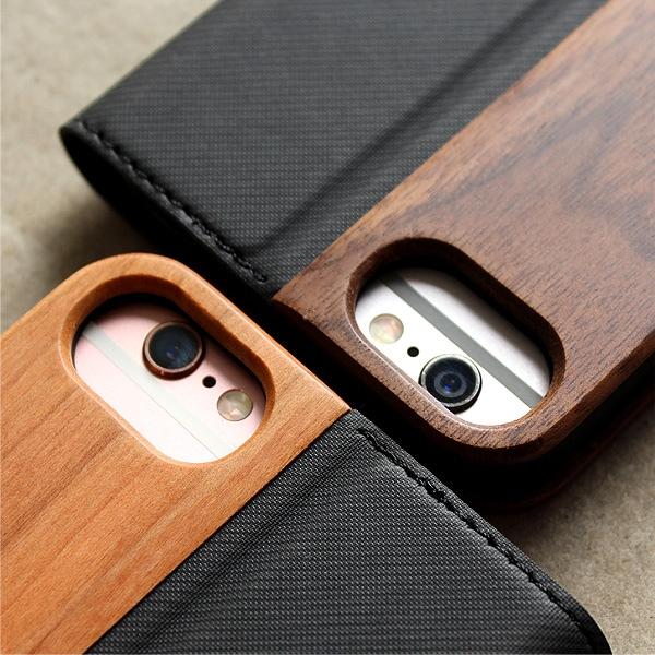 iPhone6s/6にも対応の木製手帳型ケース