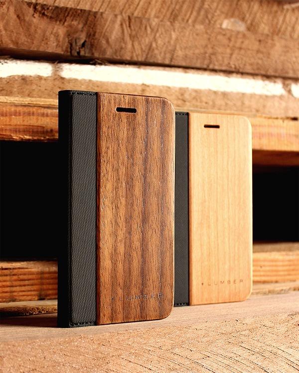 手帳型の木製スマートフォンケース iPhone6/6s専用