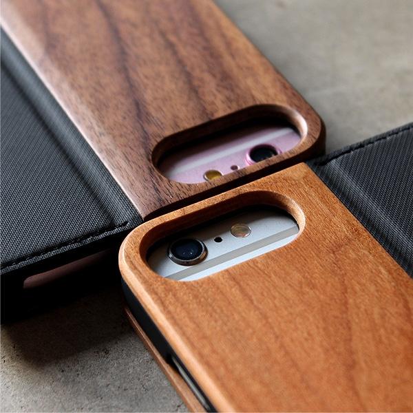 iPhone6 Plus/6s Plusにも対応の木製手帳カバー