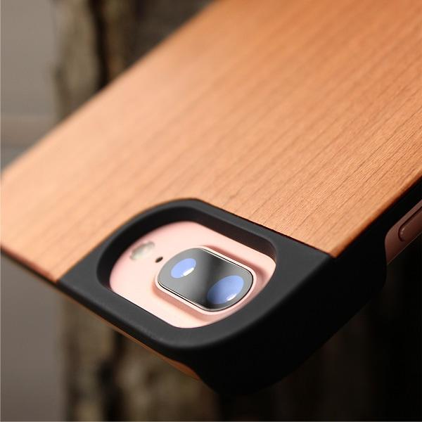 天然木を融合したiPhone8 Plus/iPhone7 Plus/iPhone6s Plus/iPhone6 Plus専用のおしゃれなハードケース