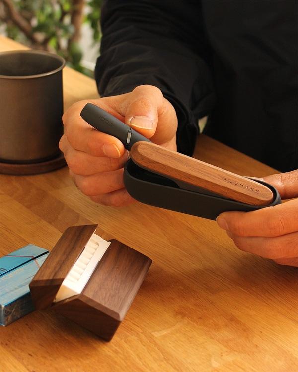 IQOS3/IQOS3 DUOのある暮らしをおしゃれにカスタマイズ「木製ドアカバー」「ヒートスティックケース」ギフトセット