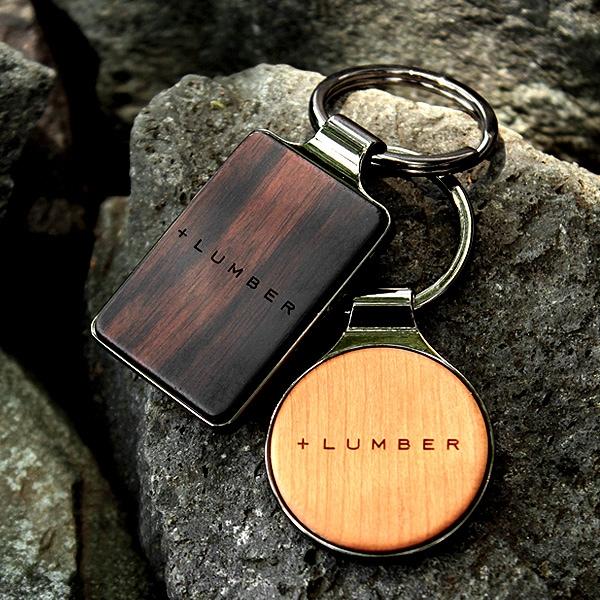銘木の美しさをプラスした木製キーホルダー・キーリング