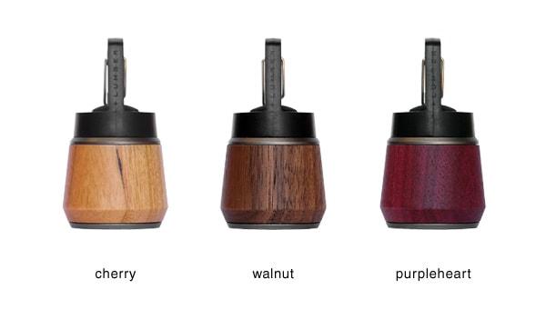 懐中電灯はチェリー・ウォールナット・パープルハートからお選び頂けます。
