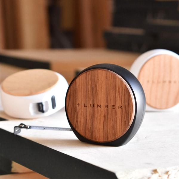 質感が心地良いオートストップ式木製メジャー・巻尺「MESURE 3.5M」