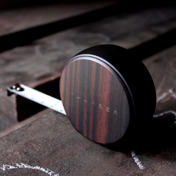 【プレミアムモデル】質感が心地良い木製メジャー「MEASURE 3.5M(プレミアムモデル:黒檀)」