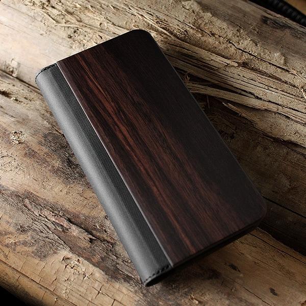 【プレミアム:黒檀】機種を選ばない木製マルチスマートフォンケース