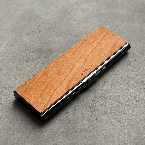 シンプルでおしゃれな木とステンレスの筆箱。(