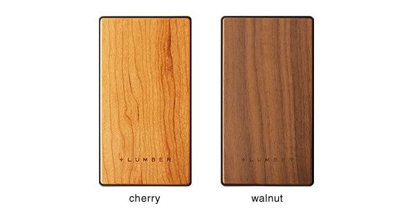 チェリー・ウォールナット・パープルハートの銘木を使用したモバイルバッテリー 4000mAh