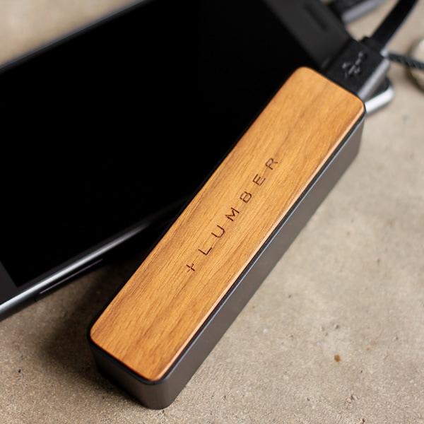 【2600mAh】【PSE認証】おしゃれな木製モバイルバッテリー