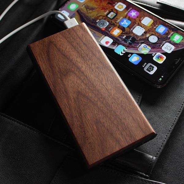 【ノーマルモデル】高級木材の黒檀を使用したモバイルバッテリー