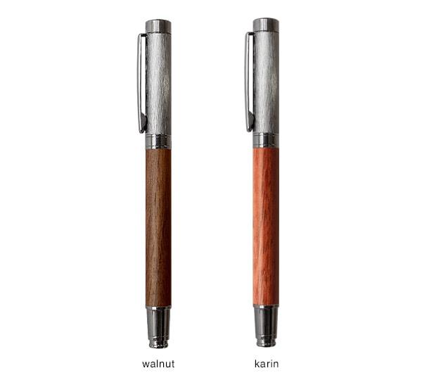 ボールペンはメープル・ウォールナット・カリンからお選び頂けます。