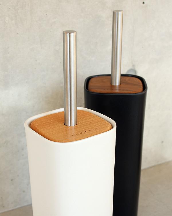 木と陶器を組み合せたトイレブラシ「TOILET BRUSH HOLDER」