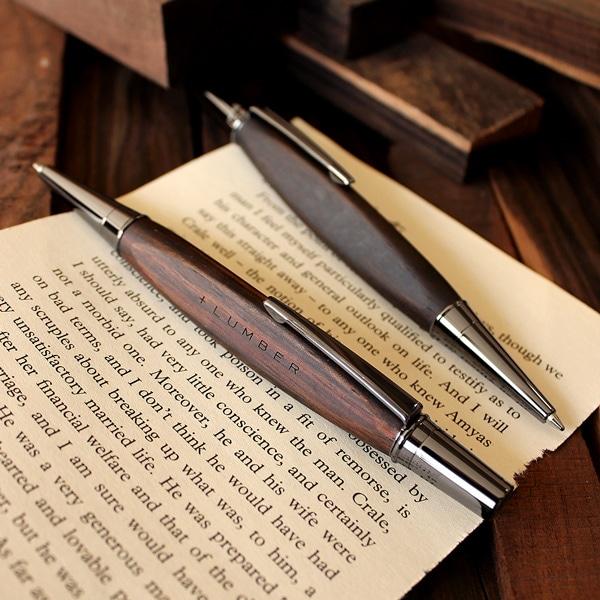 【プレミアムモデル】高級木材の黒檀を使用した三角ボールペン「TRIANGLE BODY BALLPOINT PEN(黒檀)」