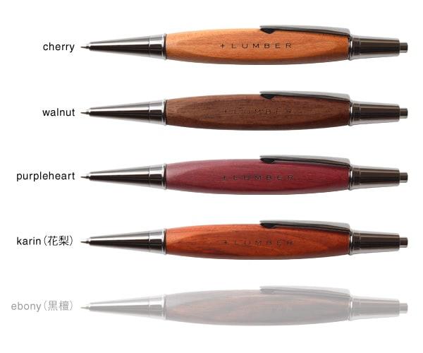 天然木の質感を活かした木製のシャープペンシル