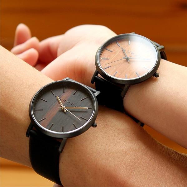 文字盤に本木目を使用した美しいシンプルな腕時計「WATCH 1100」