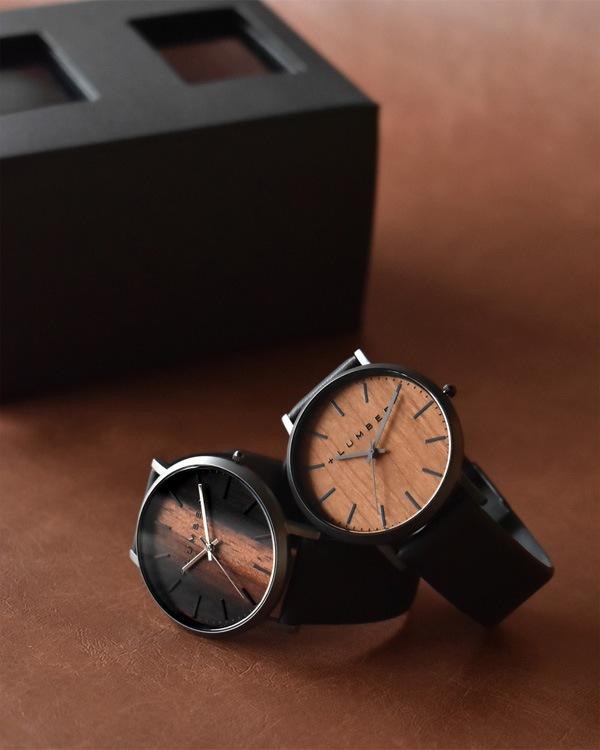 文字盤に本木目を美しく飾ったペアウォッチ・腕時計ペアセット