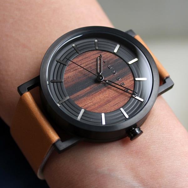 ステンレス削り出しケースに銘木を活用した木製腕時計「WATCH 2200」メンズ/レディース