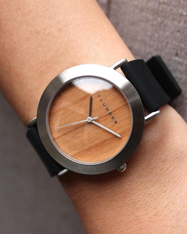 文字盤に本木目を使用したおしゃれな腕時計 WATCH 3300(シリコン)
