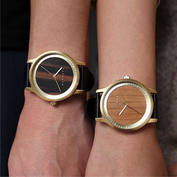 メンズ・レディース兼用(男女兼用腕時計)。(写真:エボニー[黒檀]・チェリー)