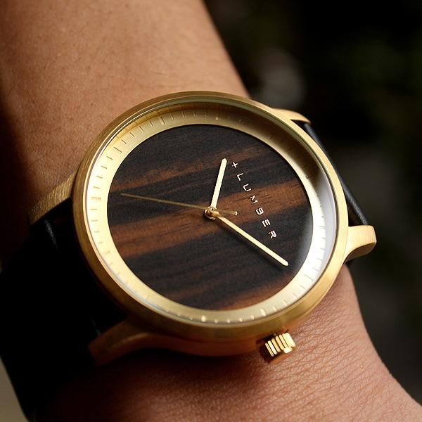 大きくて見やすいビッグフェイス木製腕時計「WATCH 5500」