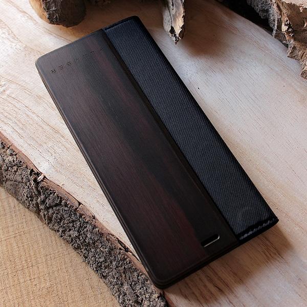 【プレミアム:黒檀】Xperia5用手帳型ケース