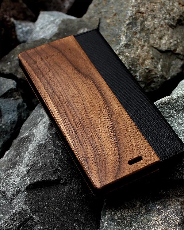 手帳型の木製スマートフォンケース Xperia™ XZ1専用