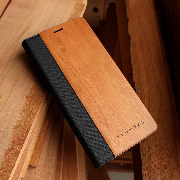 手触り良い塗装を施した木製エクスペリアXZ3ケース