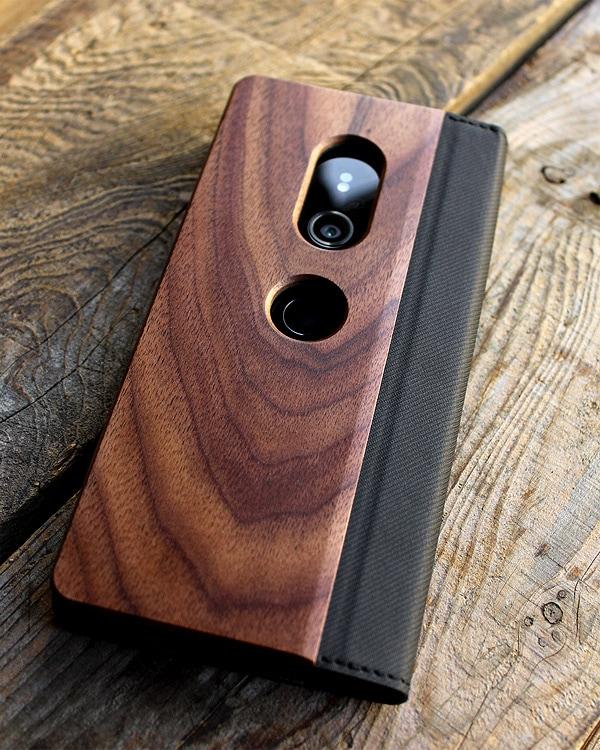 手帳型の木製スマートフォンケース Xperia™ XZ3専用