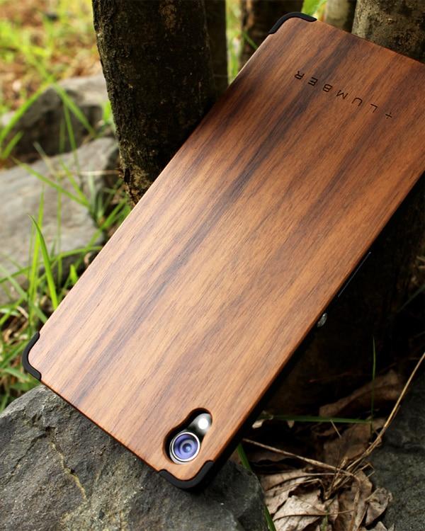 丈夫なハードケースと天然木を融合したXperia™ Z3専用木製ケース